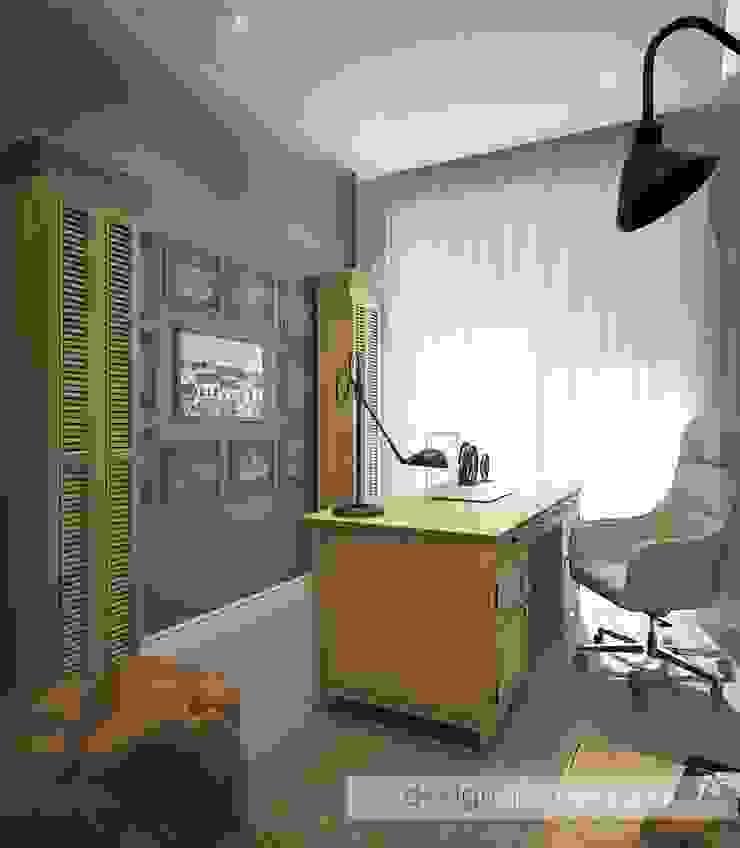 Кабинет Рабочий кабинет в эклектичном стиле от ELENA SKUTOVA Эклектичный