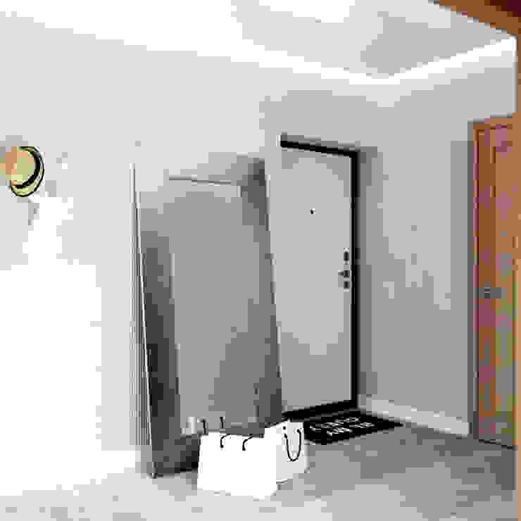 Белый лофт Коридор, прихожая и лестница в стиле лофт от QUADRUM STUDIO Лофт