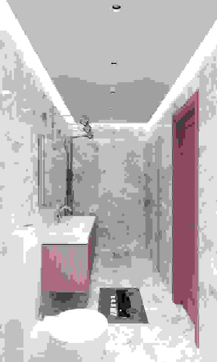 Белый лофт Ванная в стиле лофт от QUADRUM STUDIO Лофт