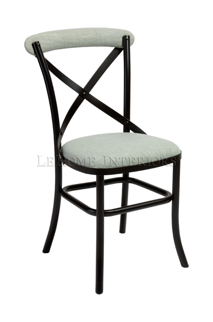 Стул Metall Cross-Back Chair C043:  в современный. Автор – LeHome Interiors, Модерн Металл