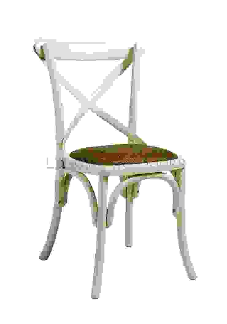 Стул Rattan Cross-Back Dining Chair C002 от LeHome Interiors Кантри Дерево Эффект древесины