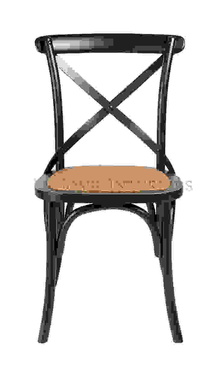 Стул Rattan Cross-Back Dining Chair C073 от LeHome Interiors Кантри Дерево Эффект древесины