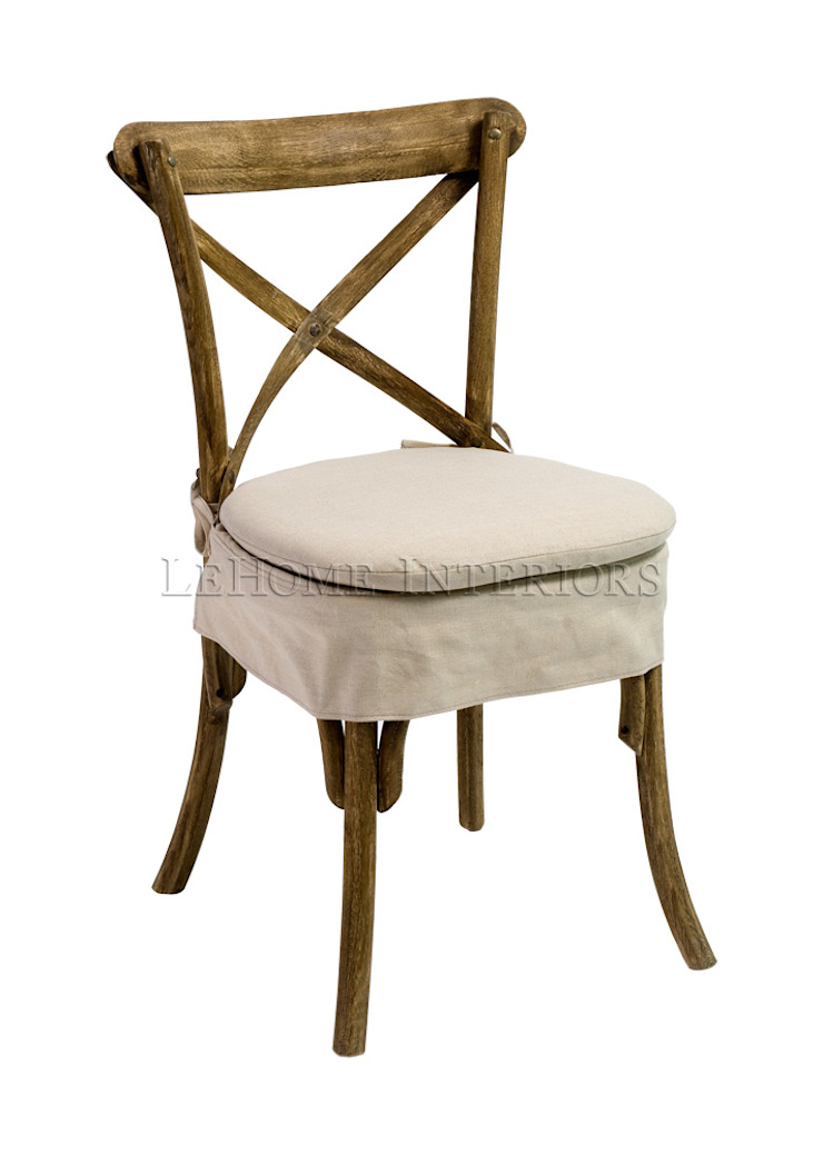 Стул Savoy Cross-Back Dining Chair C017 от LeHome Interiors Кантри Дерево Эффект древесины