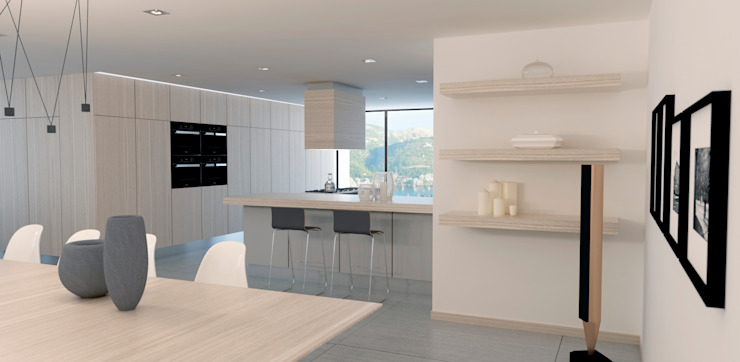 Vivienda Pto. Andratx Cocinas de estilo moderno de Lendworks Moderno