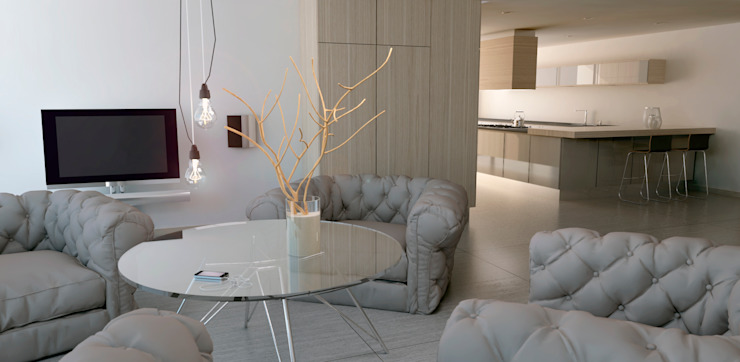 Projekty,  Salon zaprojektowane przez Lendworks, Nowoczesny
