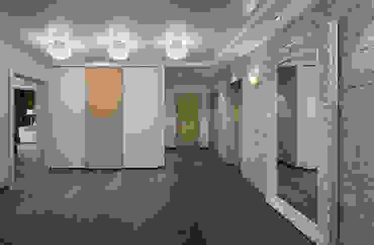 THE NUT WOOD Коридор, прихожая и лестница в модерн стиле от MAKK Модерн