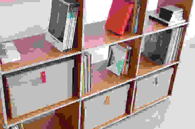 LTX SPOD Moderne Wohnzimmer Holz Braun
