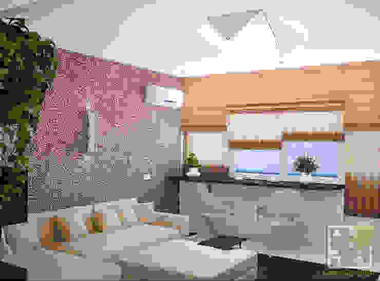 Гостиная-студио Гостиные в эклектичном стиле от Елена Марченко (Киев) Эклектичный