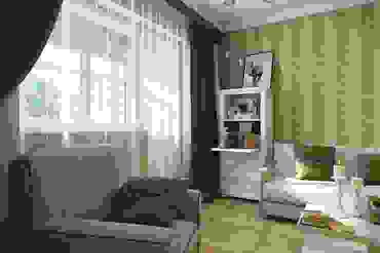 ПРИТЯЖЕНИЕ ЦВЕТА Гостиная в классическом стиле от Дизайн студия Алёны Чекалиной Классический
