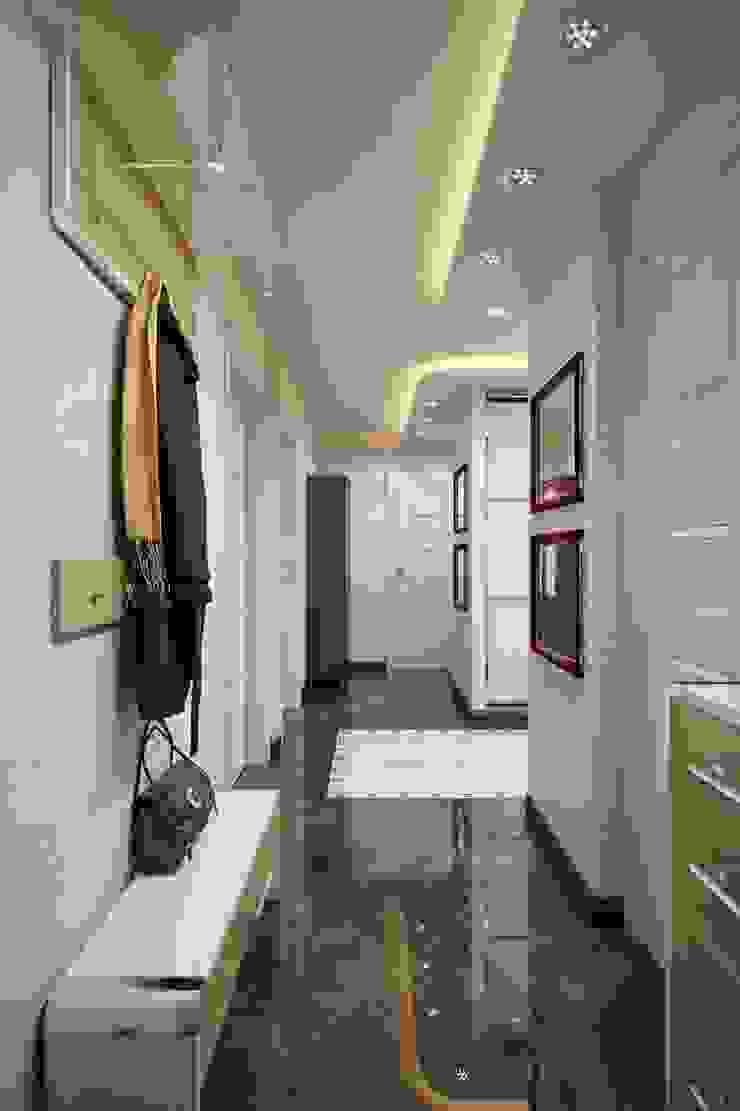ПРИТЯЖЕНИЕ ЦВЕТА Коридор, прихожая и лестница в классическом стиле от Дизайн студия Алёны Чекалиной Классический