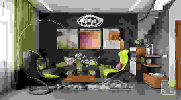 Гостиная-кухня студио Гостиные в эклектичном стиле от Елена Марченко (Киев) Эклектичный