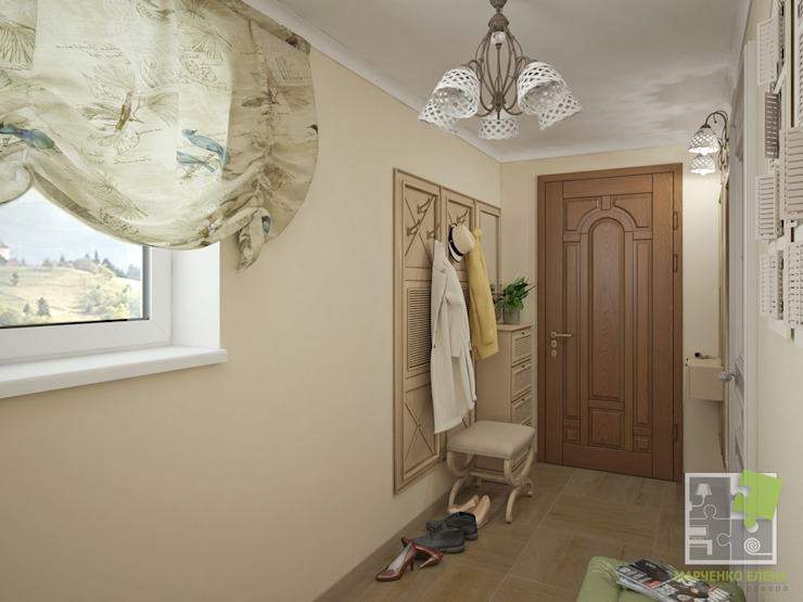Прихожая Коридор, прихожая и лестница в стиле кантри от Елена Марченко (Киев) Кантри