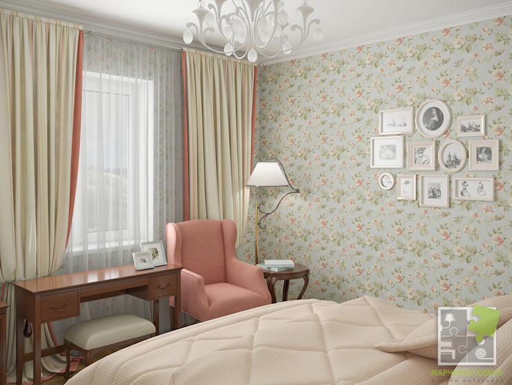 Country style bedroom by Елена Марченко (Киев) Country