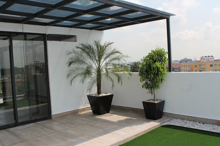 Modern style balcony, porch & terrace by F.arquitectos Modern