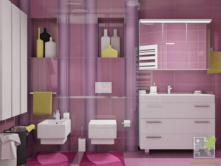 Eclectic style bathroom by Елена Марченко (Киев) Eclectic