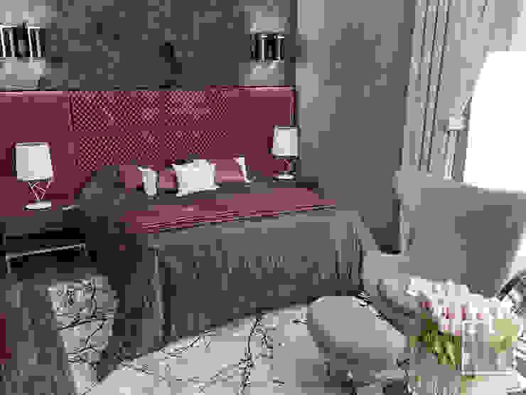 Camera da letto eclettica di Елена Марченко (Киев) Eclettico
