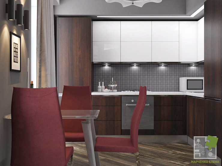 Квартира холостяка Кухни в эклектичном стиле от Елена Марченко (Киев) Эклектичный
