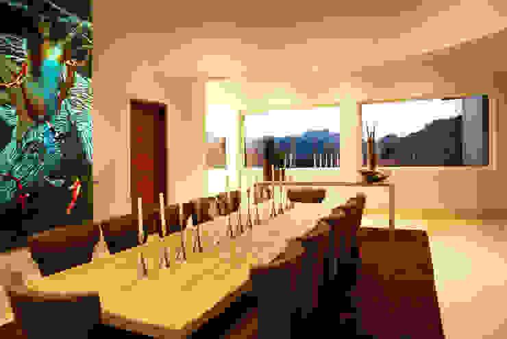 Modern dining room by Adrián Martínez Arquitectos Modern