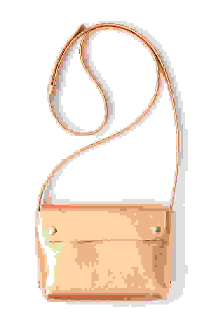 Leren handtas in de kleur 'copper' van renskeversluijs Minimalistisch Leer Grijs