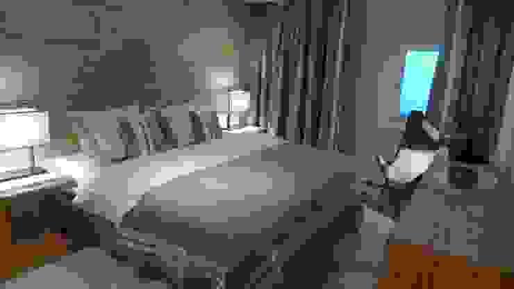 Camera da letto in stile rustico di RH-Design Innenausbau, Möbel und Küchenbau Aarau Rustico Legno composito Trasparente