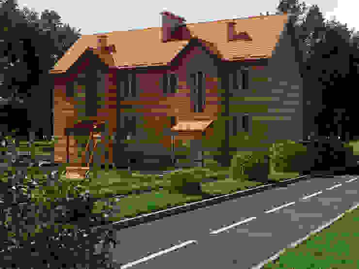 Проект поселка - экстерьеры Дома в стиле минимализм от Катков Сергей Минимализм