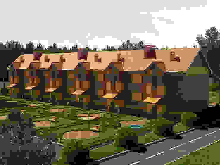 Проект поселка – экстерьеры Дома в стиле минимализм от Катков Сергей Минимализм
