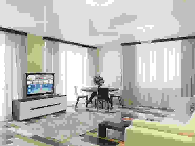 Проект небольшой квартиры под сдачу Гостиная в стиле минимализм от Катков Сергей Минимализм