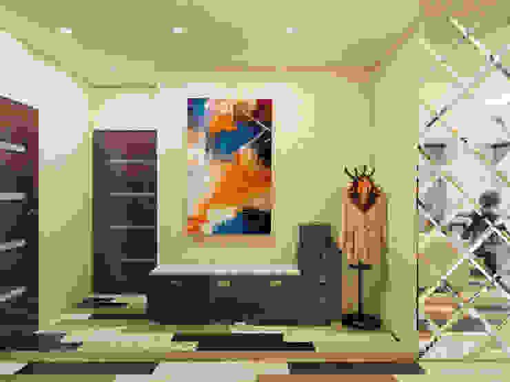 Проект небольшой квартиры под сдачу Коридор, прихожая и лестница в стиле минимализм от Катков Сергей Минимализм