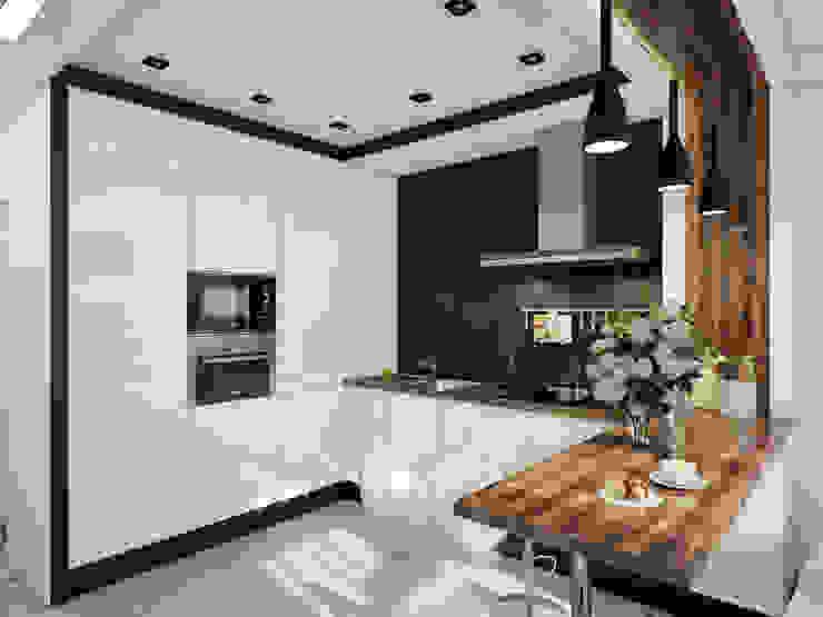 Projekty,  Kuchnia zaprojektowane przez Катков Сергей , Industrialny