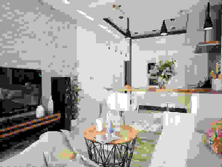 Проект частной квартиры Гостиная в стиле лофт от Катков Сергей Лофт
