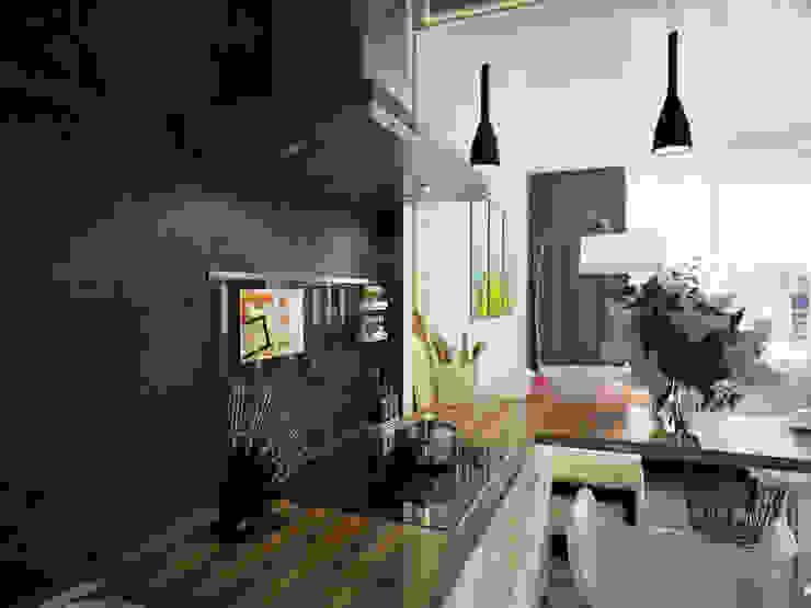 Проект частной квартиры Кухня в стиле лофт от Катков Сергей Лофт