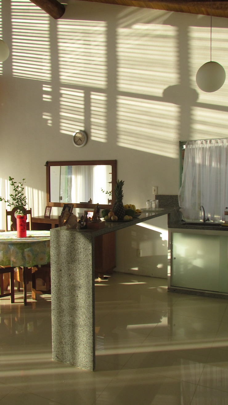 CASA ECOLÓGICA III Cozinhas rústicas por alexis vinícius arquitetura e design Rústico