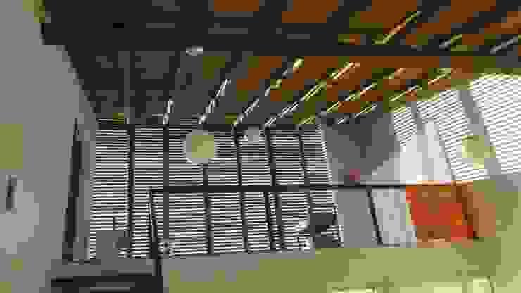 CASA ECOLÓGICA III Corredores, halls e escadas rústicos por alexis vinícius arquitetura e design Rústico