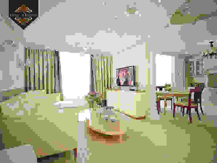романтичная классика: Гостиная в . Автор – Decor&Design