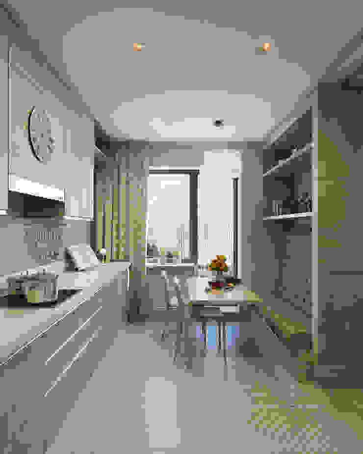 Кухня Кухня в стиле модерн от Студия Искандарова Модерн
