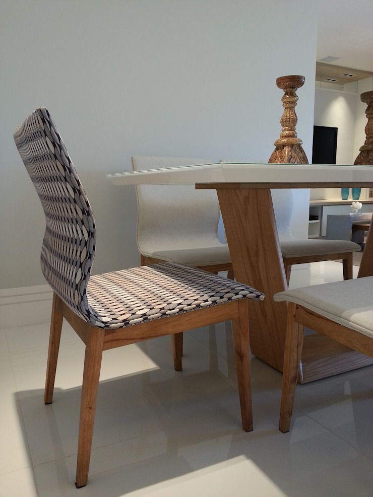 Detalhes mesa de jantar. Salas de jantar modernas por Lucio Nocito Arquitetura e Design de Interiores Moderno