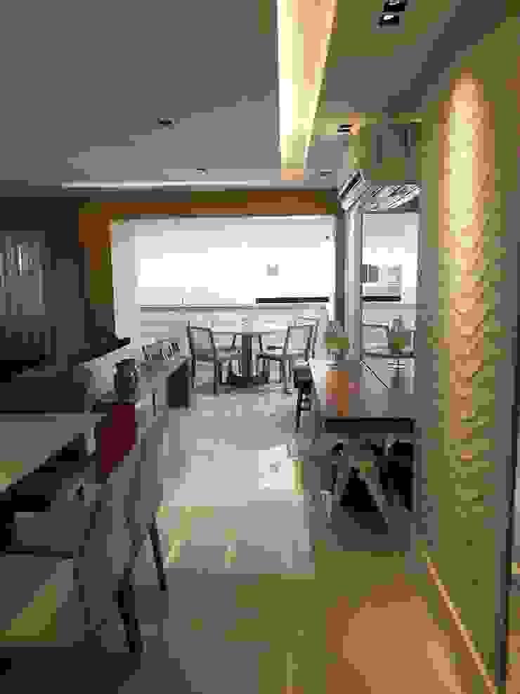 Detalhes do living por Lucio Nocito Arquitetura. Salas de jantar modernas por Lucio Nocito Arquitetura e Design de Interiores Moderno