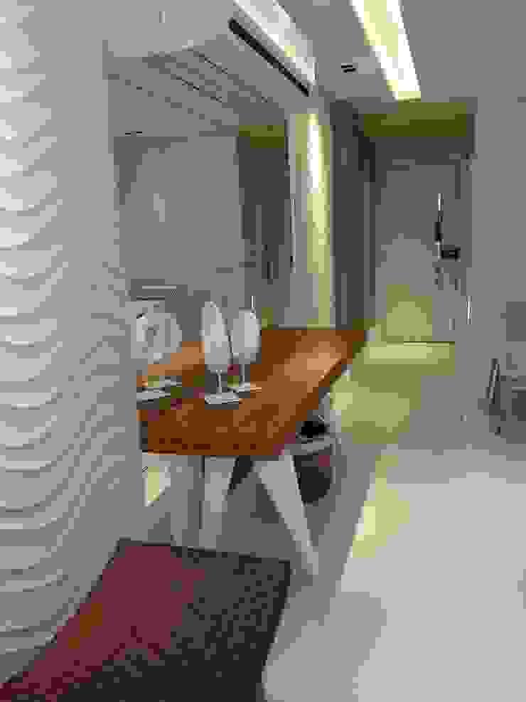 Detalhes dos revestimentos. Salas de jantar modernas por Lucio Nocito Arquitetura e Design de Interiores Moderno