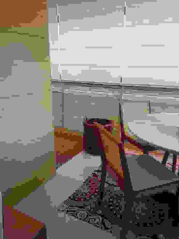 Espaço sala de almoço por Lucio Nocito Arquitetura. Varandas, alpendres e terraços modernos por Lucio Nocito Arquitetura e Design de Interiores Moderno