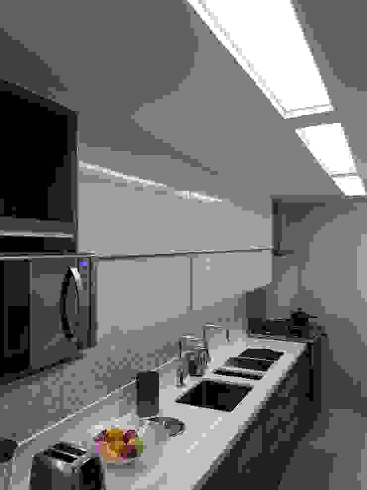 Detalhes iluminação na nova cozinha. Cozinhas modernas por Lucio Nocito Arquitetura e Design de Interiores Moderno