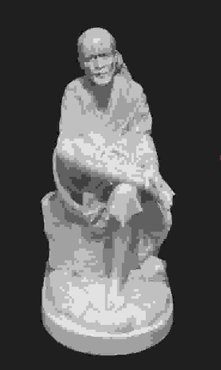 Shirdi Sai Baba, marmer Beeldhouwerij van Velzen Kunst Sculpturen Marmer Wit