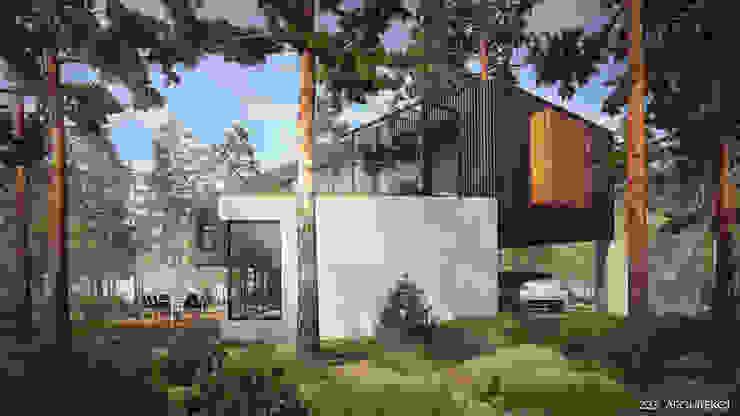 Dom w Czarnowie Minimalistyczne domy od Z3Z ARCHITEKCI Minimalistyczny Drewno O efekcie drewna