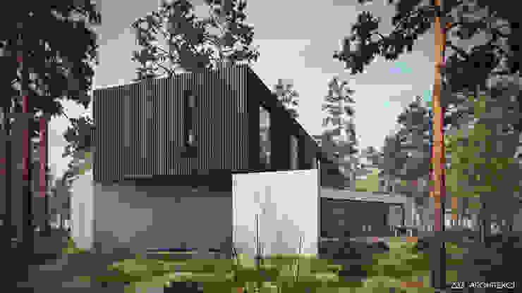 Dom w Czarnowie Minimalistyczne domy od Z3Z ARCHITEKCI Minimalistyczny