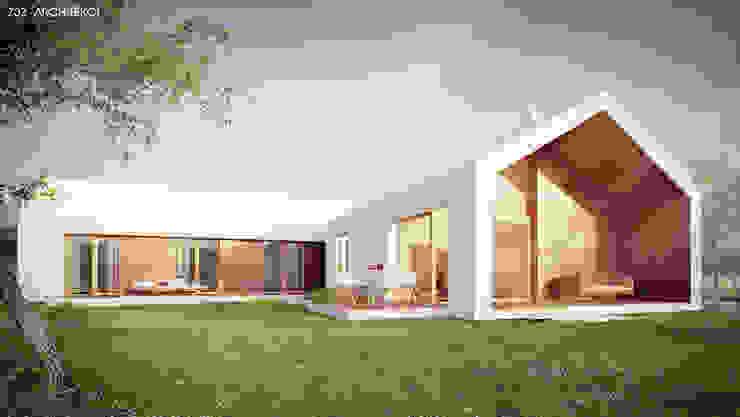 Dom Biały Minimalistyczne domy od Z3Z ARCHITEKCI Minimalistyczny