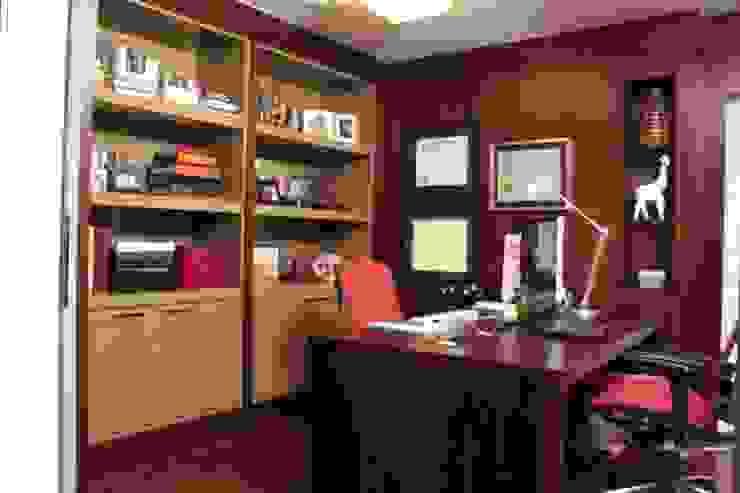 Phòng học/văn phòng phong cách hiện đại bởi Fernanda Moreira - DESIGN DE INTERIORES Hiện đại Gỗ Wood effect