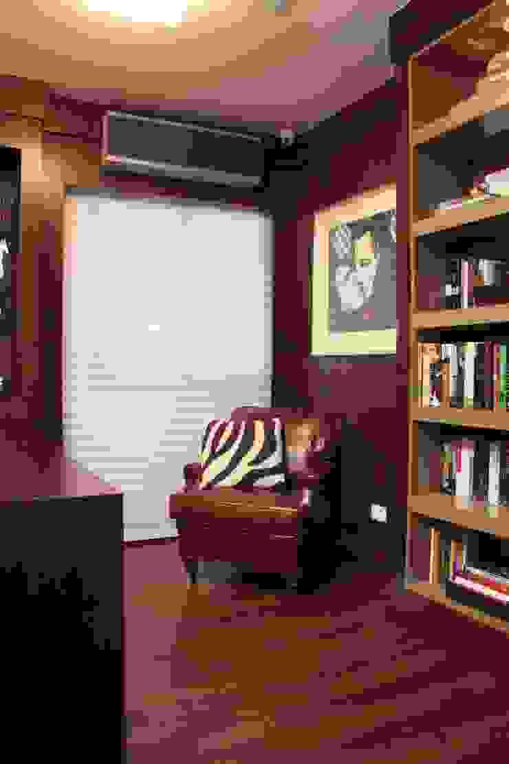 Phòng học/văn phòng phong cách hiện đại bởi Fernanda Moreira - DESIGN DE INTERIORES Hiện đại Da Grey
