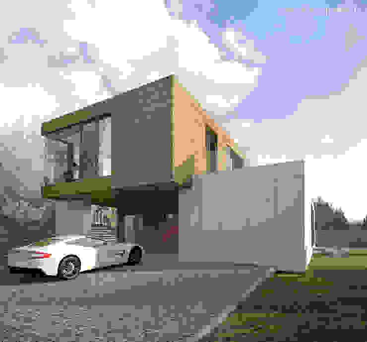 Dom w Józefosławiu Minimalistyczne domy od Z3Z ARCHITEKCI Minimalistyczny