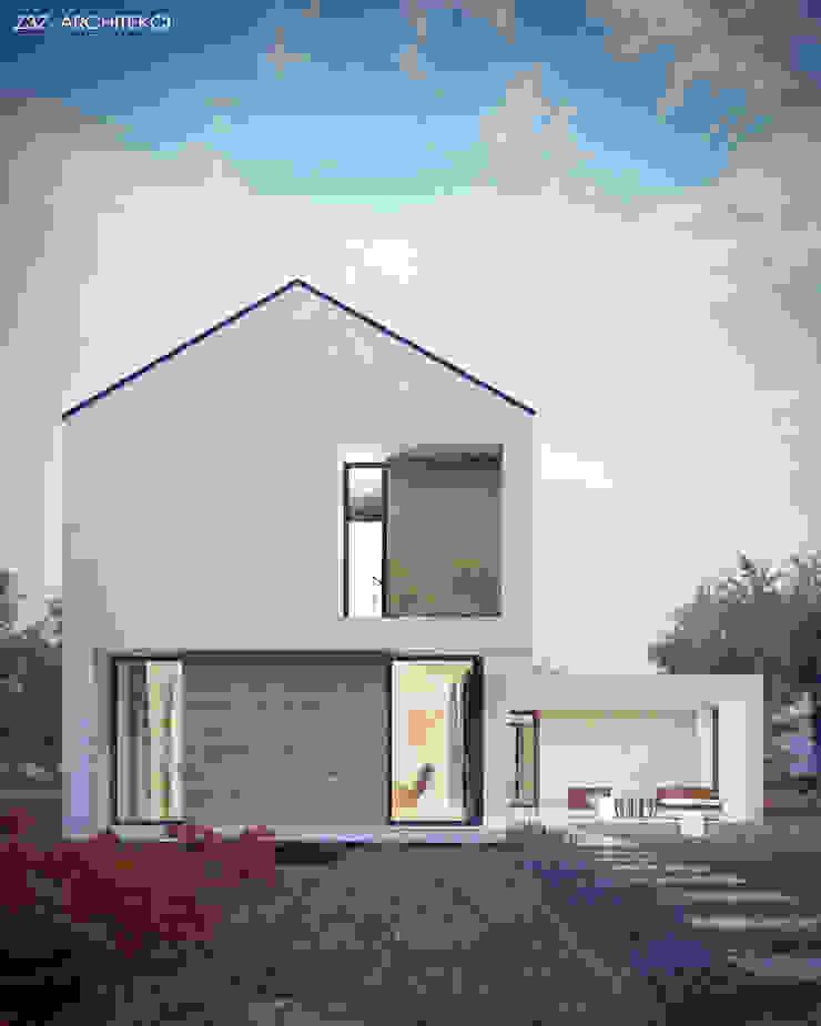 Dom Szczery Minimalistyczne domy od Z3Z ARCHITEKCI Minimalistyczny Drewno O efekcie drewna