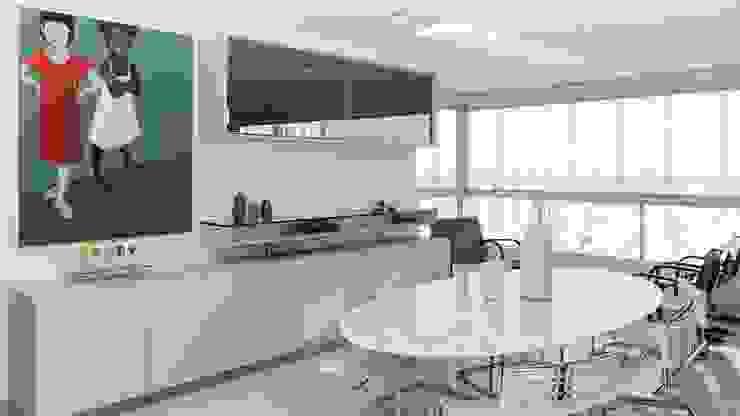 Residência T|R—VZ Arquitetas Lyssandro Silveira Modern dining room