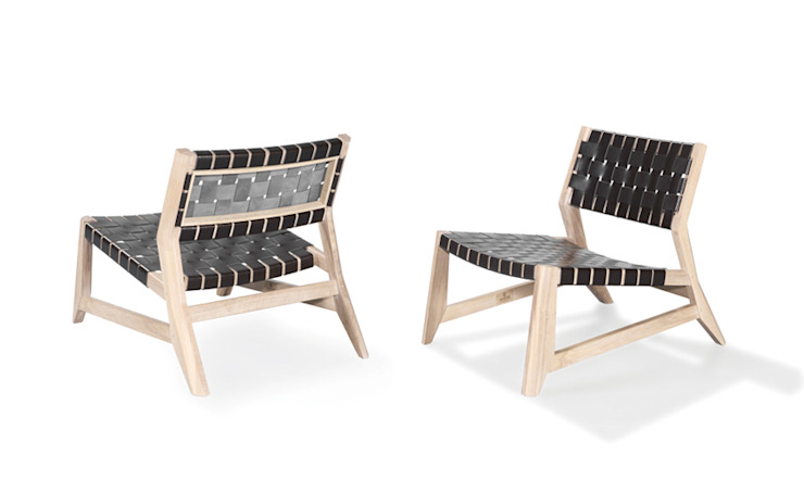 ODHIN LOUNGE CHAIR por Wewood - Portuguese Joinery Eclético Madeira maciça Multicolor
